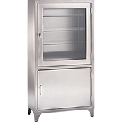 Blickman 7953SS Kay Stainless Steel Freestanding Medical Storage Cabinet