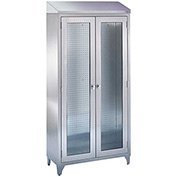 "Blickman 7959SS Walter Freestanding Medical Storage Cabinet, 35-5/8""W x 16""D x 76""H"