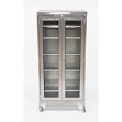 "Blickman 7970SS-1 Paul Instrument and Supply Cabinet, 5 Stainless Shelves, 35-5/8""W x16""D x 79-1/4""H"