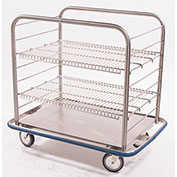 "Blickman OCC4 Open Case Cart with 2 Wire Shelves, 42""L x 29""W x 40-1/4""H"