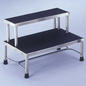 Blickman 7763MR Donnelly Two-Step Foot Stool, Stainless Steel, MR Conditional