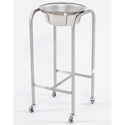 "Blickman 7807SS-HB Single Basin Solution Stand with H-Brace, 15""W x 15""D x 33""H, Stainless Steel"