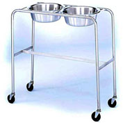 "Blickman 7808MR-HB Double Basin Solution Stand with H-Brace, 29""W x 15""D x 33""H, MR Conditional"