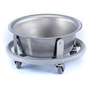Blickman 8766SS Round Sponge Receptacle with 8.5 Quart Basin, Stainless Steel