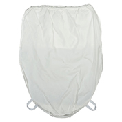 "Blickman HB-18 Nylon Hamper Bag, 18"" Diameter, White"