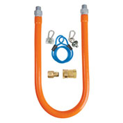 "BK Resources 1/2"" x 48"" Commercial Gas Hose Kit CSA and ANSI Approved, BKG-GHC-5048-SCK2"