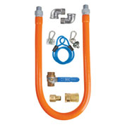 "BK Resources 1/2"" x 48"" Commercial Gas Hose Kit CSA and ANSI Approved, BKG-GHC-5048-SCK3"