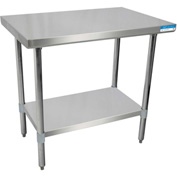 "BK Resources SVT-3630, 36"" W x 30"" D, 18 ga. T-430 Stainless Steel Workbench"