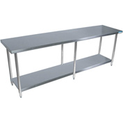"BK Resources SVT-9624, 96"" W x 24"" D, 18 ga. T-430 Stainless Steel Workbench"