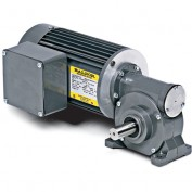 Baldor AC Gearmotor, GC25010, .1//.13HP, 62//74RPM, 1PH, TENV