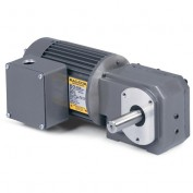 Baldor AC Gearmotor, GC25120, .12//.16HP, 11.3//13.3RPM, 1PH, TEFC