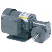 Baldor AC Gearmotor, GC3321, .12//.16HP, 67//82RPM, 1PH, TEFC