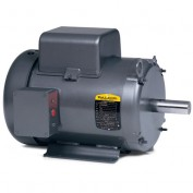 Baldor Motor L3708TM, 5HP, 1725RPM, 1PH, 60HZ, 213T, 3744LC, TEFC, F1