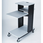 Balt® Xtra Long Presentation Cart - Gray