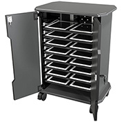 16 Tablet Economy Tablet Charging Cart, 8-Shelf