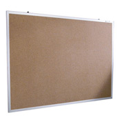 "Balt® Natural Cork Tackboard - Aluminum Trim - 60""W x 48""H"
