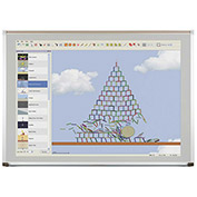 Evolution Projection Surface - Matte Gray - Deluxe Aluminum Trim - 2X3 ft.