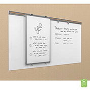 Whiteboard Track System - 8'Track, 1 Hanging Panel, 2 Frog Clips & 4X8 Sharewall