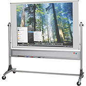 Platinum Reversible - Evolution Projection Surface - Matte Gray/Porcelain Steel - 4X8 ft.