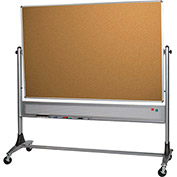 Platinum Reversible - Evolution Projection Surface - Matte Gray/Cork - 4X8 ft.