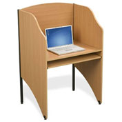 Balt® 89868 Deluxe Floor Carrel - Teak