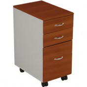 "iFlex™ 3- Drawer File Cabinet 26-1/2""H x 13""W x 19-1/2""D, Cherry"