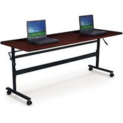 "Balt® Economy Flipper Training Table 72"" X 24"" Mahogany"