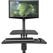 Balt® Desk Mounted Sit/Stand Workstation - Single Monitor