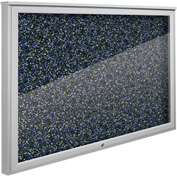 "Balt® Weather Sentinel Outdoor Enclosed Cabinet - Rubber-Tak Surface - 48""W x 36""H Blue"