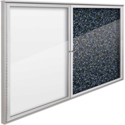 "Balt® Weather Sentinel Outdoor Enclosed Cabinet - 2 Doors - 72""W x 48""H Blue"