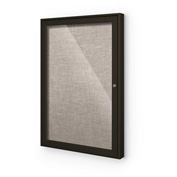 "Balt® Outdoor Enclosed Bulletin Board Cabinet,1-Door 36""W x 36""H, Coffee Trim, Gray"