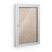"""Balt® Deluxe Bulletin Board Cabinet,with 1 Hinged Door 24""""W x 36""""H, Cotton"""