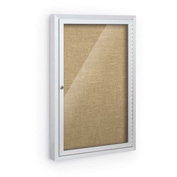 """Balt® Deluxe Bulletin Board Cabinet,with 1 Hinged Door 24""""W x 36""""H, Natural"""