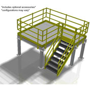 Bluff Value Engineered Mezzanine, MEZ-10128-BDRD, 10'W x 12'D x 8'H