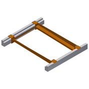 "Bluff Variable-Width Keg Flow Frame For 36""D Rack, VARIABLEWIDTH2436, Holds 3 Sixer Kegs, 21-24""W"