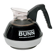 Bunn 06100.0101 - Coffee Decanter, Stainless Steel Bottom, 12-Cup Unbreakable, Black Handle