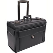 Bond Street 456110 Synthetic Leather Business Case on Wheels, Black