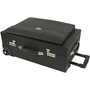 Bond Street 457716 Synthetic Leather Large Business Case on Wheels, Black