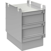 "BOSTONtec DRW36, Drawer, Three Stacked, 6"" D X 18"" L X 12"" W"
