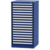 """Borroughs Modular Cabinet, MDC-0002-0202, 30x29-1/4x59"""", 17 Drawers, 400 Compts, Blue"""
