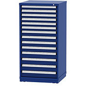 """Borroughs Modular Cabinet, MDC-0003-0202, 30x29-1/4x59"""", 14 Drawers, 300 Compts, Blue"""