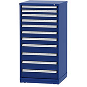 """Borroughs Modular Cabinet, MDC-0005-0202, 30x29-1/4x59"""", 11 Drawers, 268 Compts, Blue"""