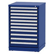 "Borroughs Modular Cabinet, MDC-0010-0202, 30x29-1/4x44"", 11 Drawers, 248 Compts, Blue"