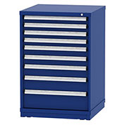 "Borroughs Modular Cabinet, MDC-0011-0202, 30x29-1/4x44"", 9 Drawers, 183 Compts, Blue"