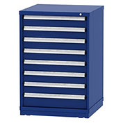 "Borroughs Modular Cabinet, MDC-0012-0202, 30x29-1/4x44"", 8 Drawers, 160 Compts, Blue"