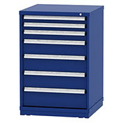 "Borroughs Modular Cabinet, MDC-0013-0202, 30x29-1/4x44"", 7 Drawers, 137 Compts, Blue"