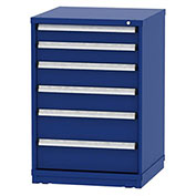 "Borroughs Modular Cabinet, MDC-0015-0202, 30x29-1/4x44"", 6 Drawers, 84 Compts, Blue"