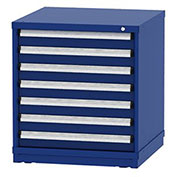 "Borroughs Modular Cabinet, MDC-0016-0202, 30x29-1/4x33"", 7 Drawers, 152 Compts, Blue"