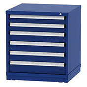 """Borroughs Modular Cabinet, MDC-0017-0202, 30x29-1/4x33"""", 6 Drawers, 150 Compts, Blue"""