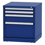 """Borroughs Modular Cabinet, MDC-0018-0202, 30x29-1/4x33"""", 4 Drawers, 68 Compts, Blue"""